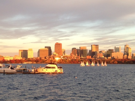 Boston Skyline Turned to Gold